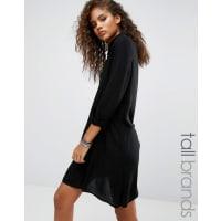 Noisy MayDebby Shirt Dress With Asymmetric Hem - Black