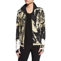 Norma KamaliPrinted Turtleneck Zip-Front Jacket, Wood Cut