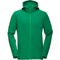 NorrønaMs Narvik Warm2 Stretch Zip Hood Chrome Green M Fleecegenser