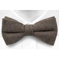 NotchWool pre tied bow tie - Brown & beige herringbones - Notch GERRIT