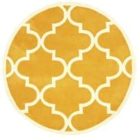 nuLOOM8 Round Hand Tufted Fez Mustard Rug
