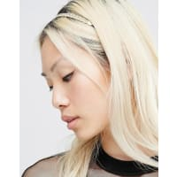 NylonGeflochtenes Haarband - Gold