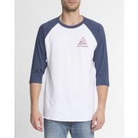ObeyT-shirt ML Raglan Print Next Round 2 Wit en MarineblauwOBEY - T-shirt ML Raglan Print Next Round 2 Wit en Marineblauw