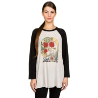 ObeyThree Roses T-Shirt creme / black / wit