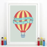 Of Life & LemonsOh! The Places Youll Go Balloon Print