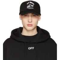 Off-whiteBlack Construction Cap