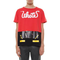 Off-whitePrinted t-shirt, size L, Rosso