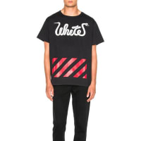 Off-whiteWhite Patchwork Tee in Black