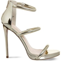 SelfridgesOFFICE Nectar strappy sandals, Womens, Size: 4, Champagne Gold
