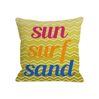 One Bella CasaSun Surf Sand Chevron Pillow