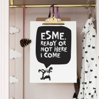 One Must DashPersonalised Ready Or Not Here I Come Print