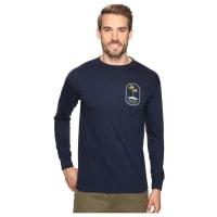O'NeillMotu Long Sleeve Screen Tee Imprint (Navy) Mens T Shirt