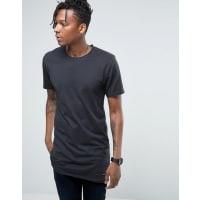 Only & SonsLang geschnittenes T-Shirt mit unverarbeiteten Kanten - Marineblau