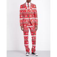 OppoSuitsWinter Wonderland Regular-Fit Woven Suit, Mens, Size: 40, Multicolour