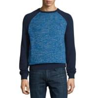Original PenguinLong-Sleeve Crewneck Jersey Sweater, Dress Blues
