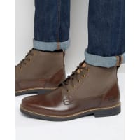 Original PenguinLace Up Boots In Brown Leather - Brown
