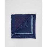 Original PenguinFazzoletto da taschino in seta a pois multicolore - Blu navy