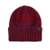 Original PenguinToben Ribbed Cuffed Beanie Hat, Pomegranate/Blue