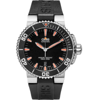 OrisAquis Date Stainless Steel And Rubber Divers Watch - Black