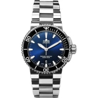 OrisAquis Date Stainless Steel Automatic Watch - Navy