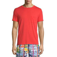 Orlebar BrownAlex II Unwashed Short-Sleeve T-Shirt, Rescue Red