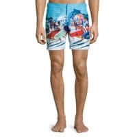 Orlebar BrownBulldog Happy Sandboys Print Swim Trunks
