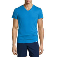 Orlebar BrownShort-Sleeve V-Neck T-Shirt, Butterfly Blue