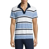Orlebar BrownTerry Towel Striped Short-Sleeve Polo Shirt