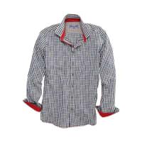 OS-TrachtenTrachtenhemd Herren mit Kontraststeppung, OS-Trachten, braun, blau/weiss