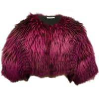 Oscar De La RentaOscar De La Renta Shocking Pink Fox Fur Bolero