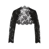 Oscar De La RentaCropped Cotton-blend Corded Lace Jacket - Black