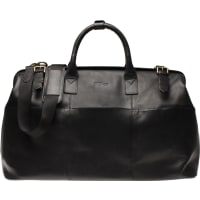 Oscar JacobsonWeekend Bag Black Leather