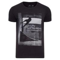OsklenT-shirt Masculina Vintage Wall Ride Side - Preto