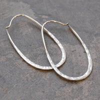 Otis JaxonSterling Silver Oval Hoop Earrings