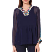 OxolloxoBlue Polyester Top