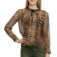 OxolloxoBrown Polyester Printed Top