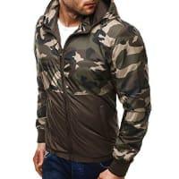 OZONEEHerren Übergangsjacke Jacke Sweatshirt Langarmshirt Sweats Longsleeve Sweatjacke Camouflage Camo TONY BACKER 200 CAMO-BRAUN S