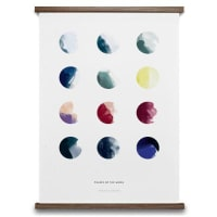 Paper CollectiveMoon Phases poster 50x70 cm