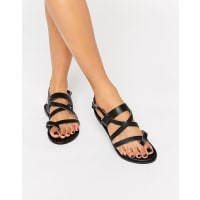 Park LaneSimple Strappy Leather Flat Sandals