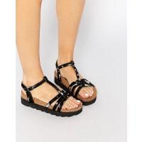 Park LaneT Bar Flatform Sandals