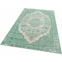 ParwisOrient-Teppich, »Jacq«, Vintagedesign, handgewebt, grün, H: 10 mm, grün