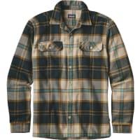 PatagoniaMs Fjord LS Flannel Shirt Sugar Pine: El Cap Khaki L Långärmade skjortor