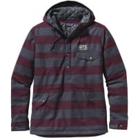 PatagoniaMs Reclaimed Wool Snap-T Pullover California Wild Stripe/Oxblood Red M Vinterjakker og Parkas