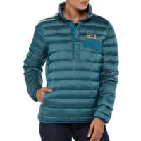 PatagoniaWs Down Snap-T Pullover Underwater Blue S Dunjakker