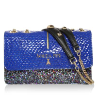 Patrizia PepeTasche - Mini Clutch Glossy Blue Glitter - in blau, bunt - Abendtasche für Damen