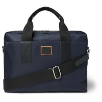 Paul SmithLeather-trimmed Canvas Briefcase - Blue