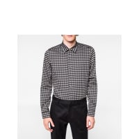 Paul SmithMens Slim-Fit Black Balloon Print Cotton Shirt