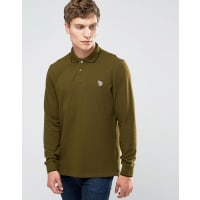 Paul SmithPaul Smith Polo Shirt With Zebra Logo In Slim Fit With Long Sleeves Khaki - Green