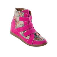 Queima de EstoqueSneaker Infantil Rosa com Estampa Floral