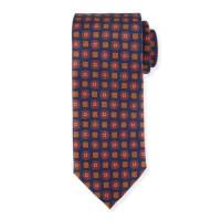 Peter MillarAutumnal Flower-Print Silk Tie, Navy